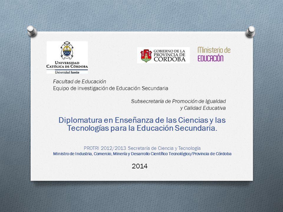PROTRI 2012/2013 Secretaría de Ciencia y Tecnología