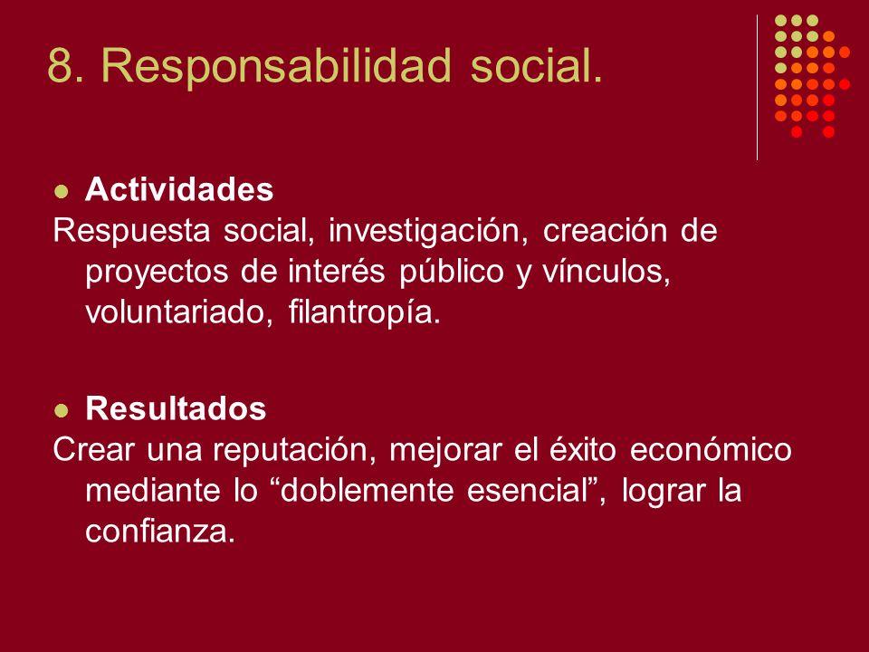 8. Responsabilidad social.