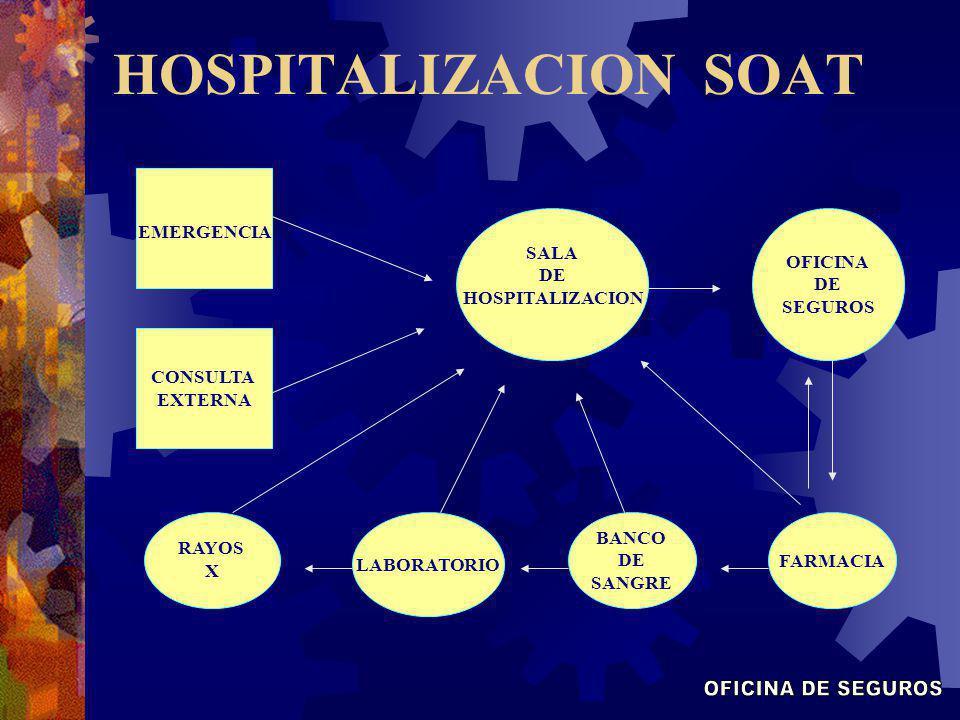 HOSPITALIZACION SOAT OFICINA DE SEGUROS EMERGENCIA SALA DE