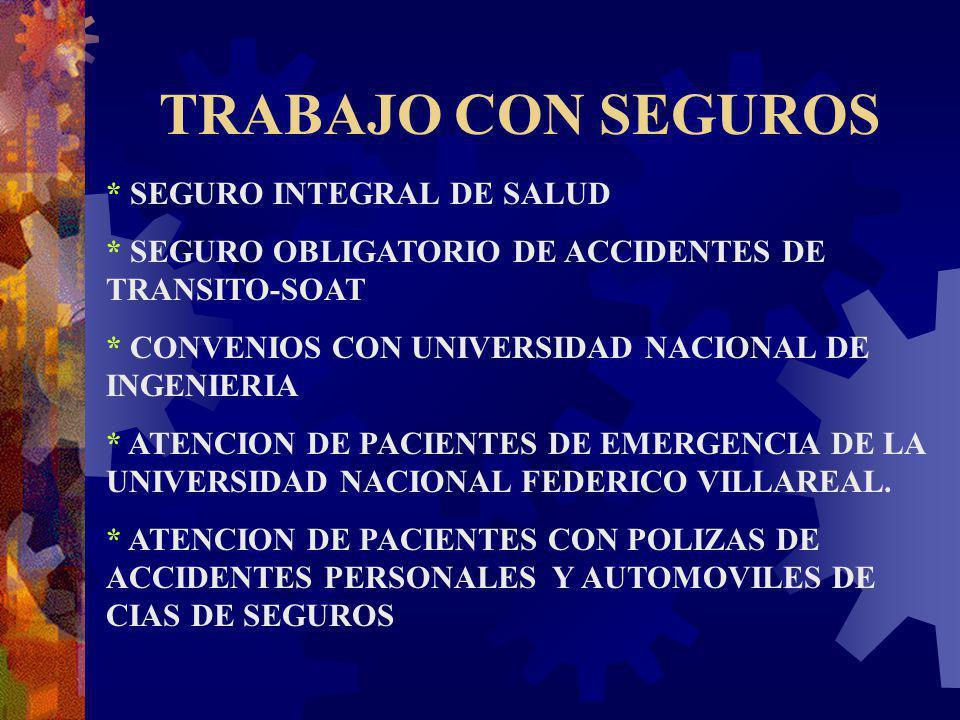 TRABAJO CON SEGUROS * SEGURO INTEGRAL DE SALUD