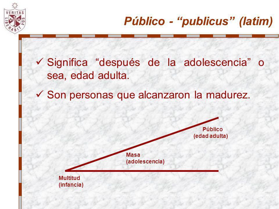 Público - publicus (latim)