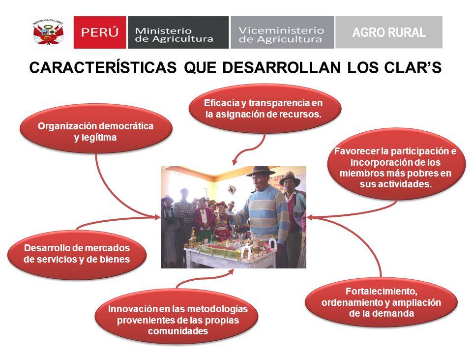 CARACTERÍSTICAS QUE DESARROLLAN LOS CLAR'S