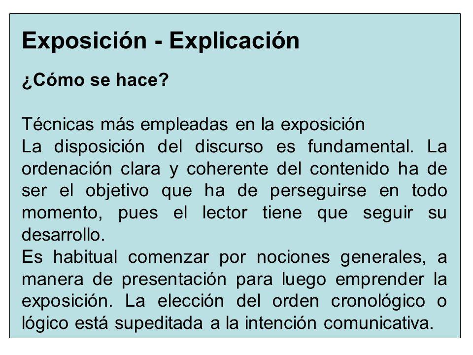 Exposición - Explicación
