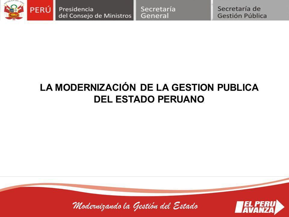 LA MODERNIZACIÓN DE LA GESTION PUBLICA DEL ESTADO PERUANO