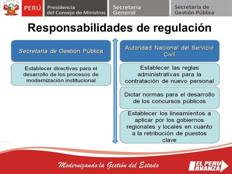 Responsabilidades de regulación