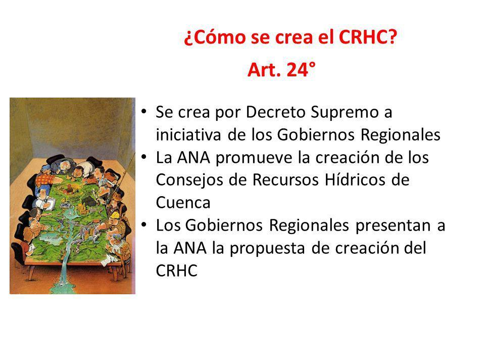 ¿Cómo se crea el CRHC Art. 24°