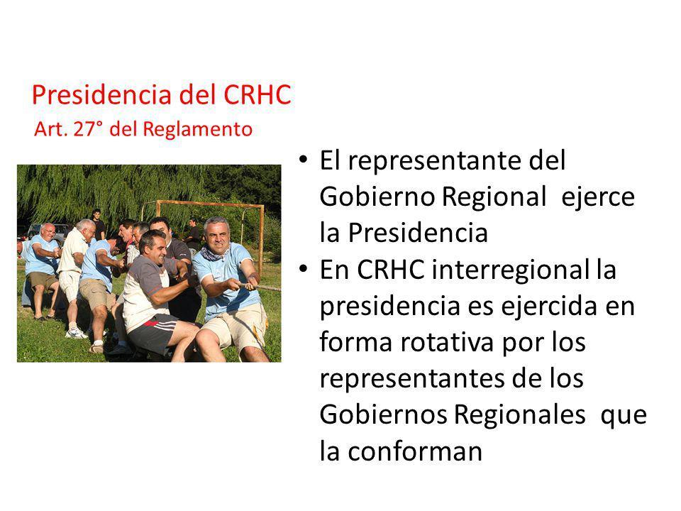 El representante del Gobierno Regional ejerce la Presidencia