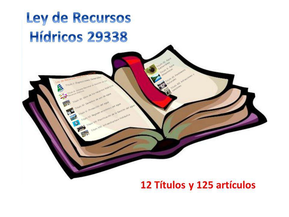 Ley de Recursos Hídricos 29338