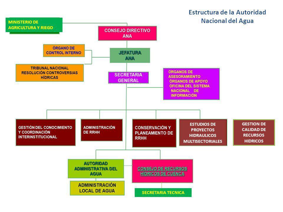 Estructura de la Autoridad Nacional del Agua