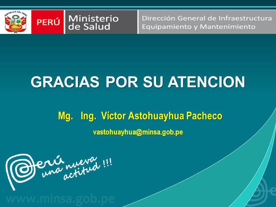 GRACIAS POR SU ATENCION Mg. Ing. Víctor Astohuayhua Pacheco