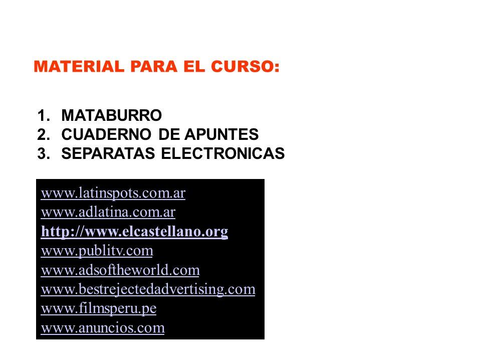 MATERIAL PARA EL CURSO: