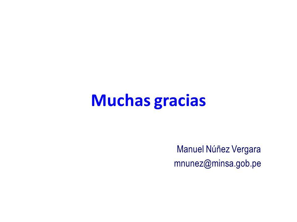Manuel Núñez Vergara mnunez@minsa.gob.pe