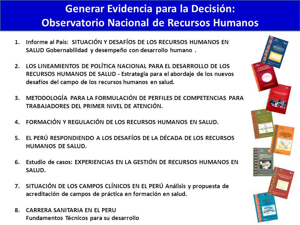Generar Evidencia para la Decisión: Observatorio Nacional de Recursos Humanos