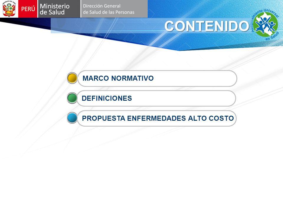 CONTENIDO MARCO NORMATIVO DEFINICIONES