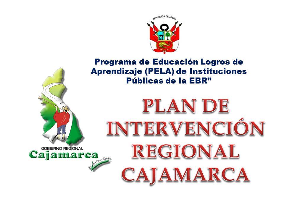 PLAN DE INTERVENCIÓN REGIONAL CAJAMARCA