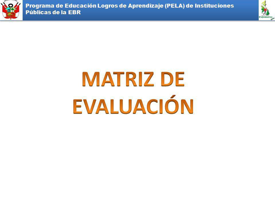 Programa de Educación Logros de Aprendizaje (PELA) de Instituciones Públicas de la EBR