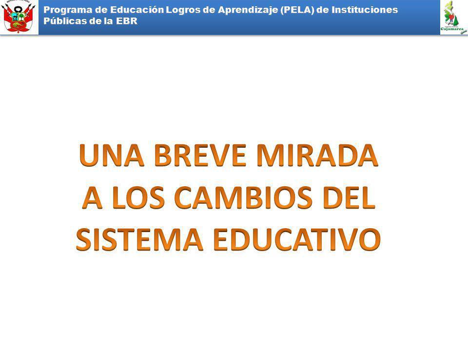 UNA BREVE MIRADA A LOS CAMBIOS DEL SISTEMA EDUCATIVO
