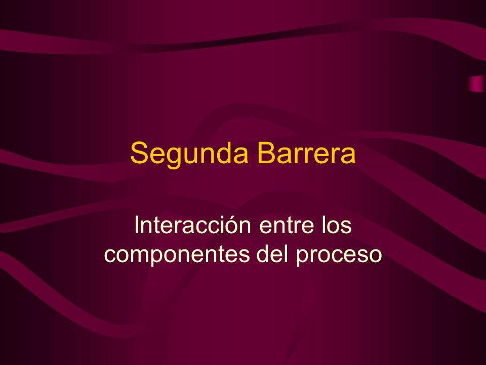 Interacción entre los componentes del proceso