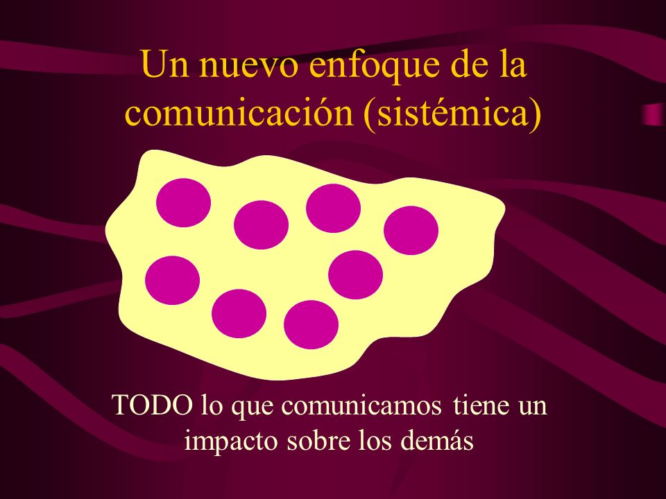 Un nuevo enfoque de la comunicación (sistémica)