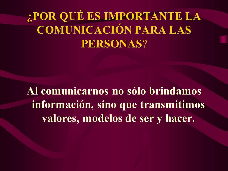¿POR QUÉ ES IMPORTANTE LA COMUNICACIÓN PARA LAS PERSONAS