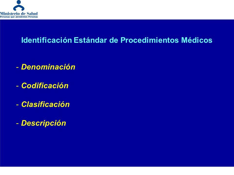 Identificación Estándar de Procedimientos Médicos