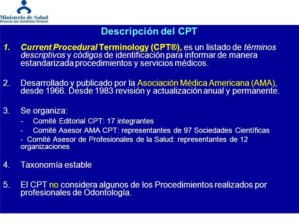 Descripción del CPT