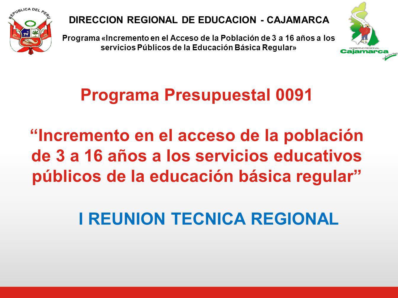 I REUNION TECNICA REGIONAL