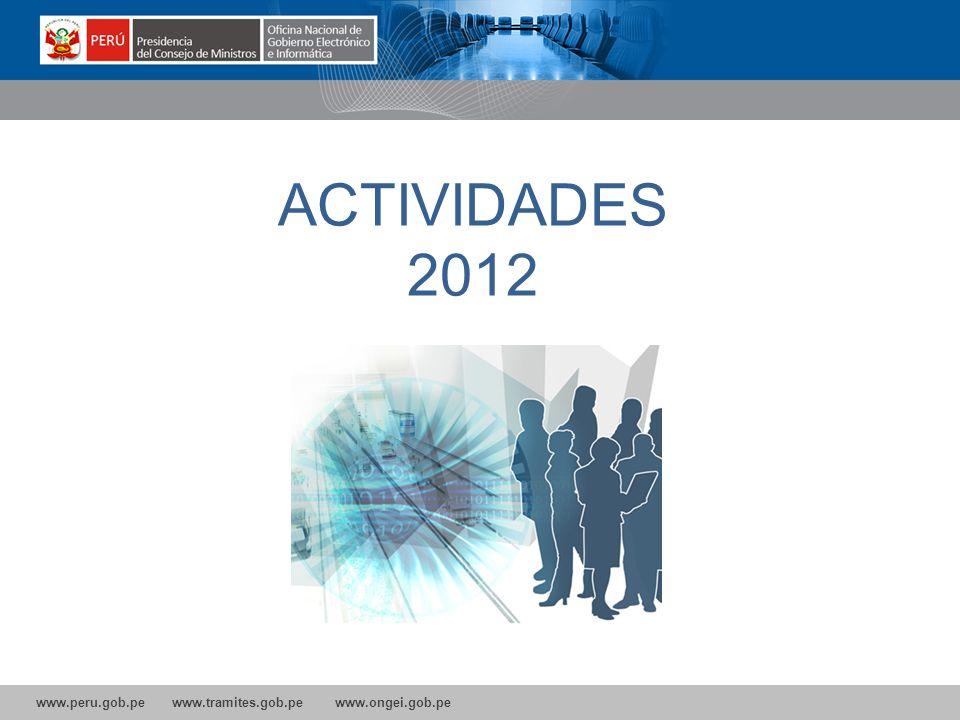 ACTIVIDADES 2012 10 10 10 10