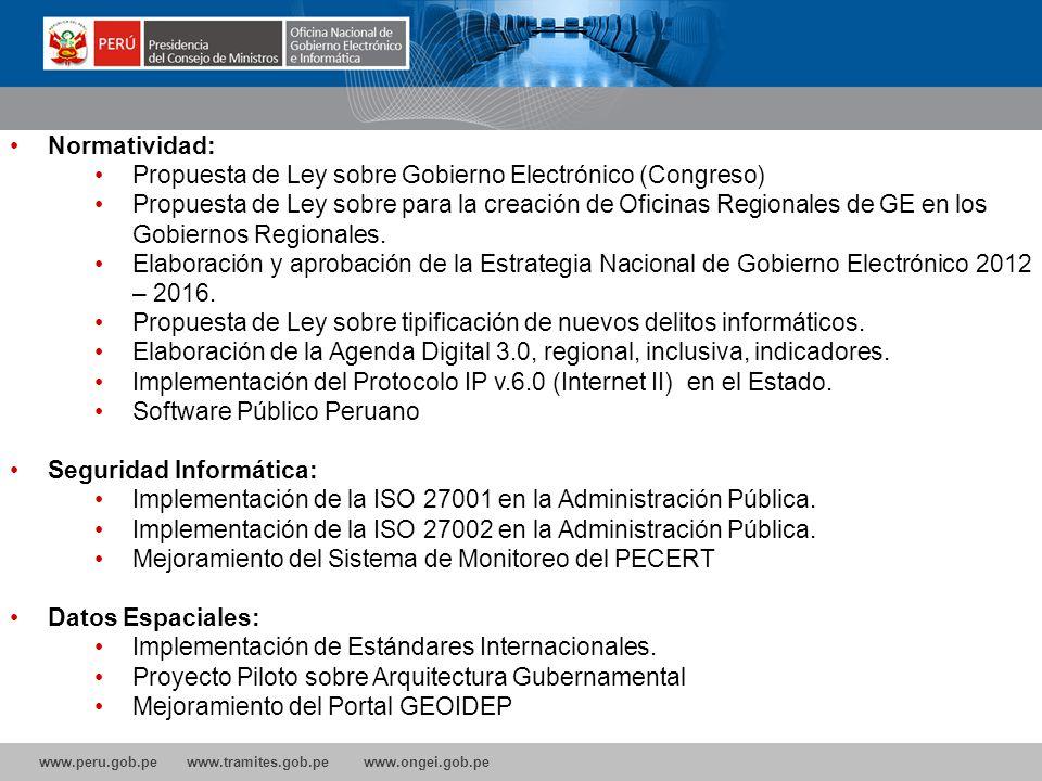 Propuesta de Ley sobre Gobierno Electrónico (Congreso)