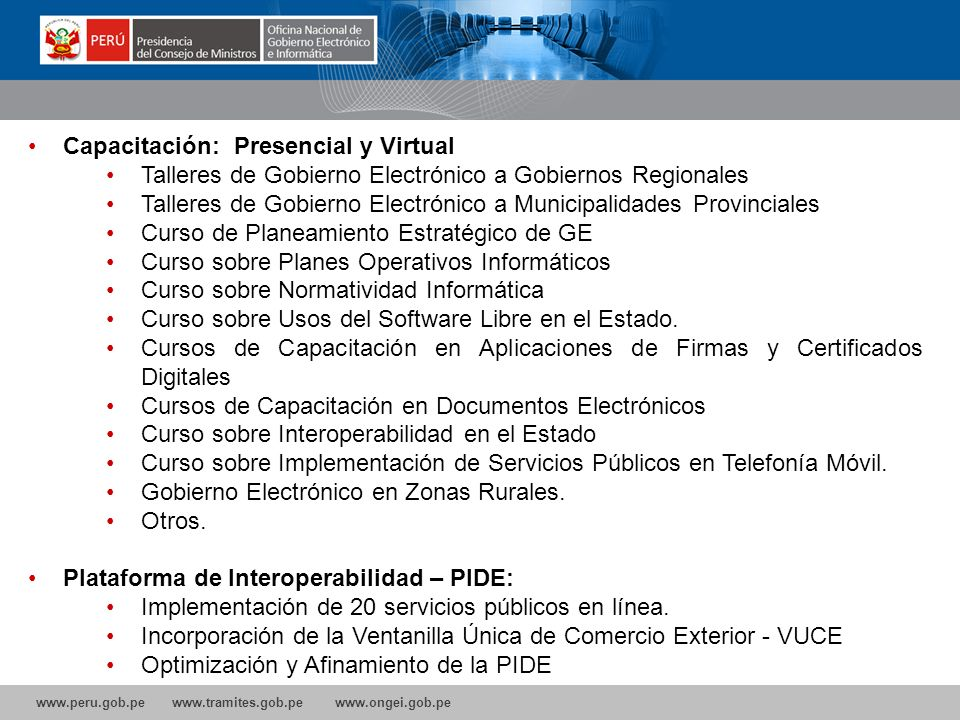 Capacitación: Presencial y Virtual