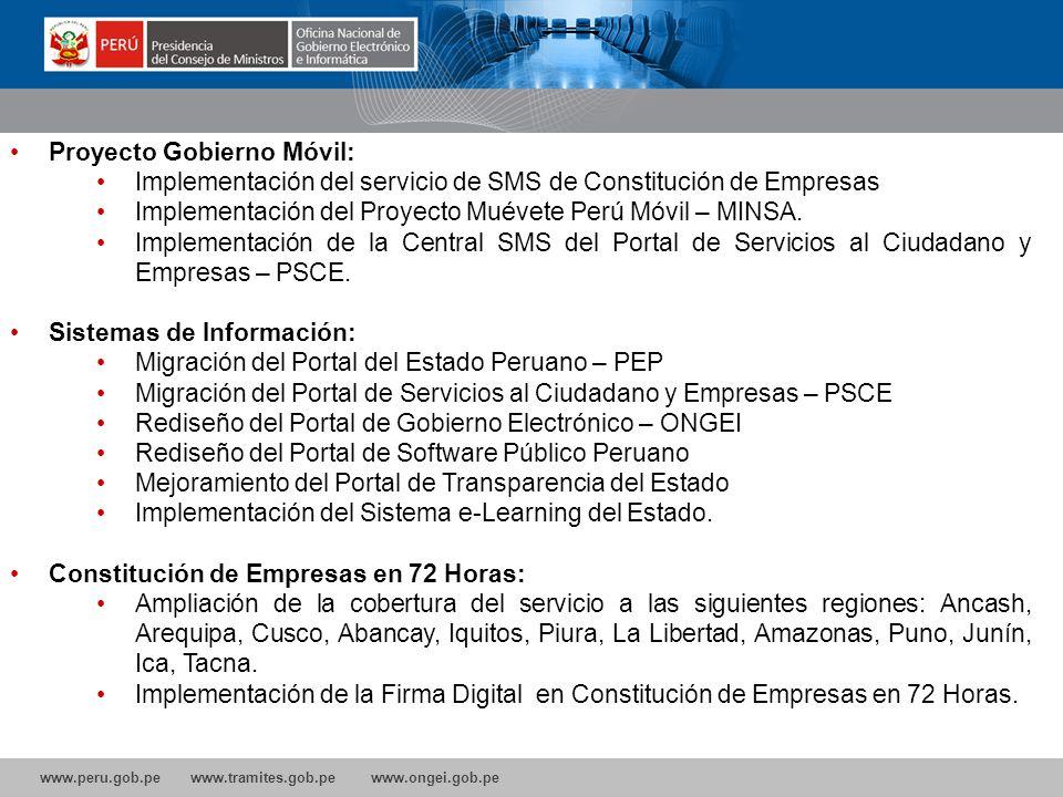 Proyecto Gobierno Móvil: