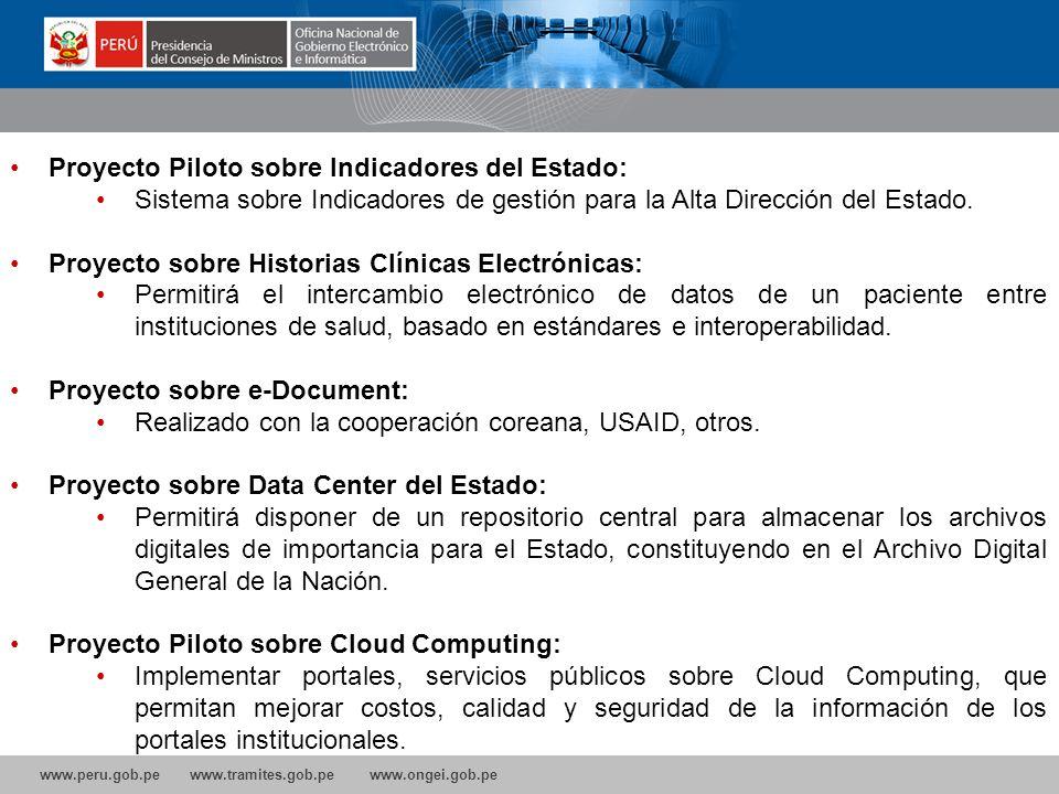 Proyecto Piloto sobre Indicadores del Estado: