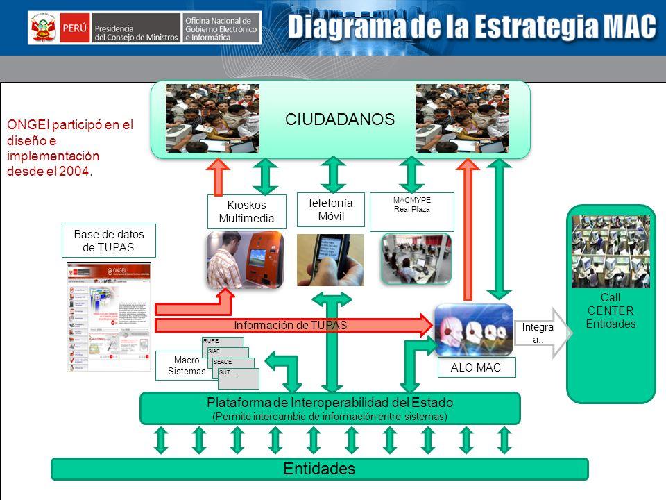 CIUDADANOS Entidades ONGEI participó en el diseño e implementación