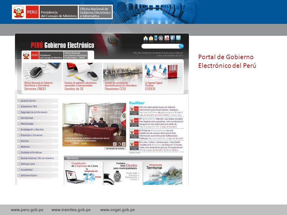 Portal de Gobierno Electrónico del Perú