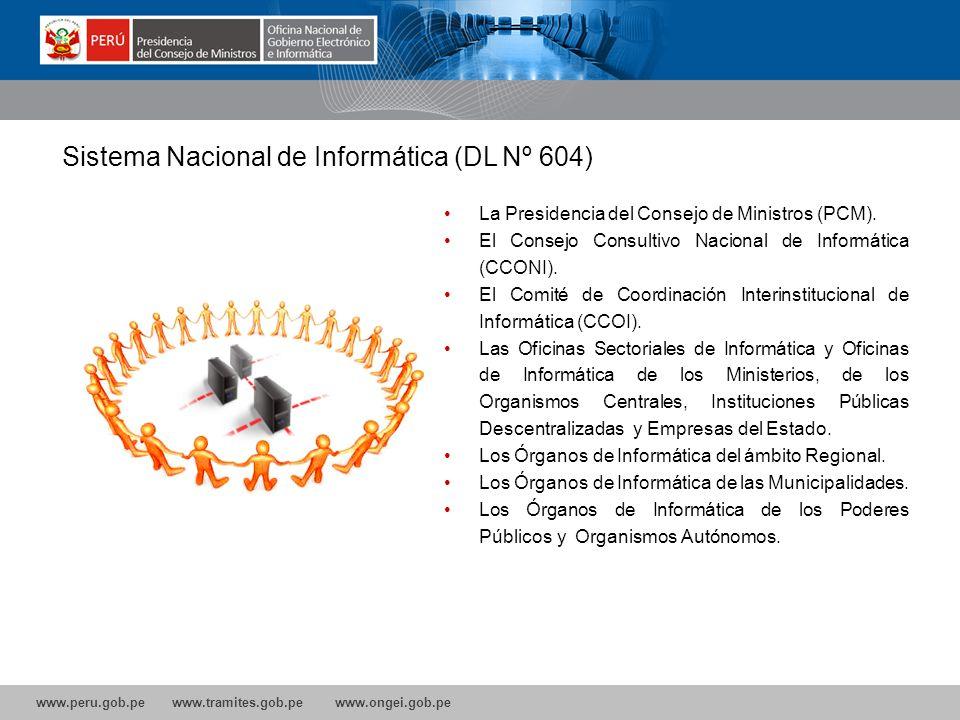 Sistema Nacional de Informática (DL Nº 604)