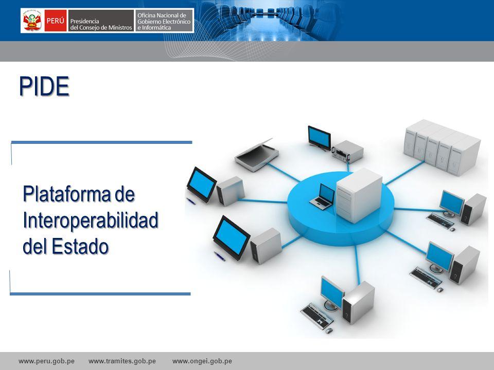 PIDE Plataforma de Interoperabilidad del Estado