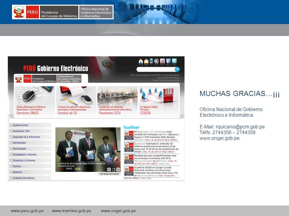 MUCHAS GRACIAS…¡¡¡ Oficina Nacional de Gobierno