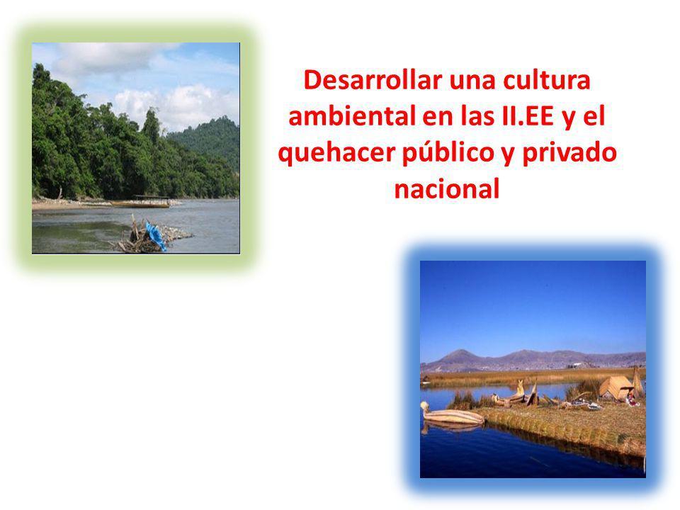 Desarrollar una cultura ambiental en las II