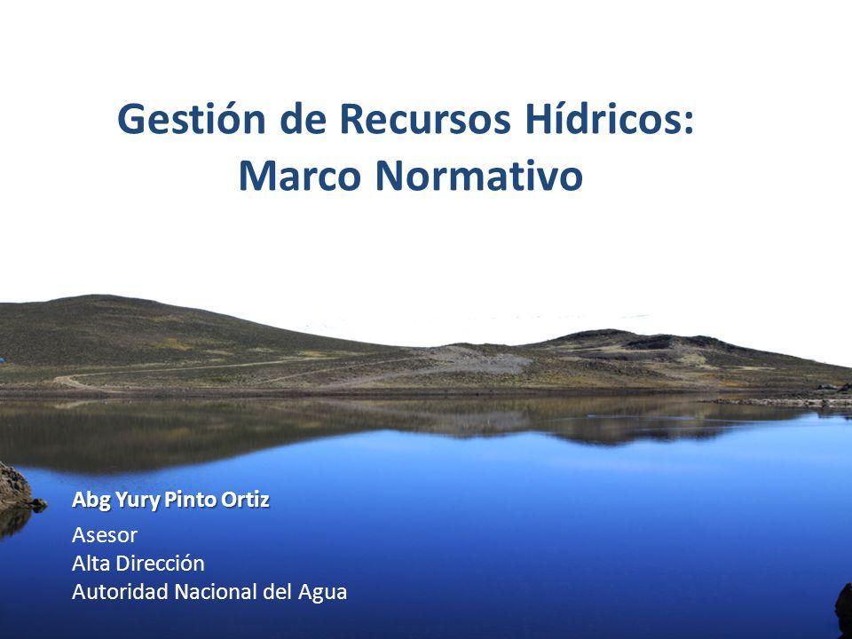 Gestión de Recursos Hídricos: