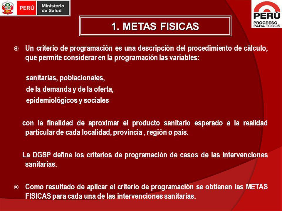 1. METAS FISICAS
