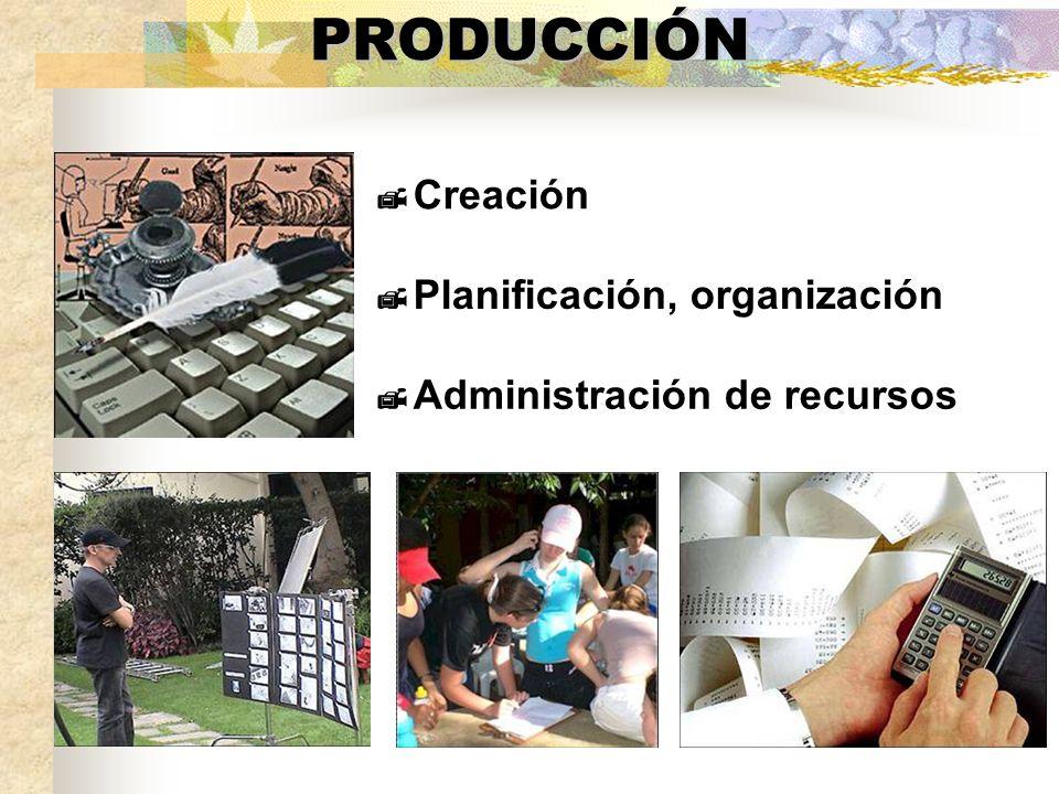 PRODUCCIÓN Creación Planificación, organización