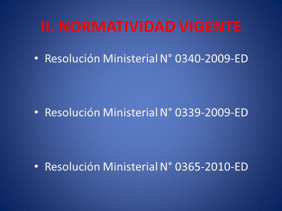 II. NORMATIVIDAD VIGENTE