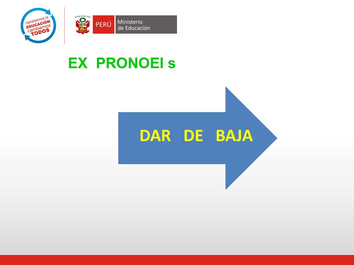 EX PRONOEI s DAR DE BAJA