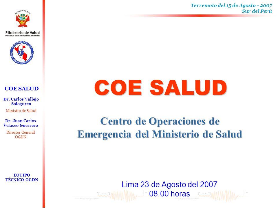 Centro de Operaciones de Emergencia del Ministerio de Salud