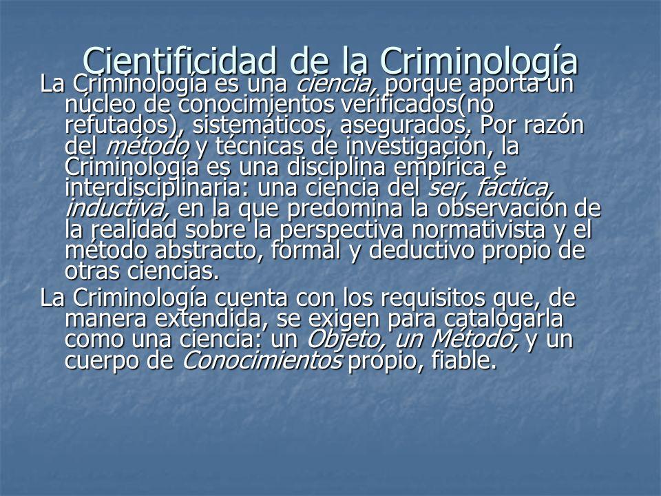 Cientificidad de la Criminología