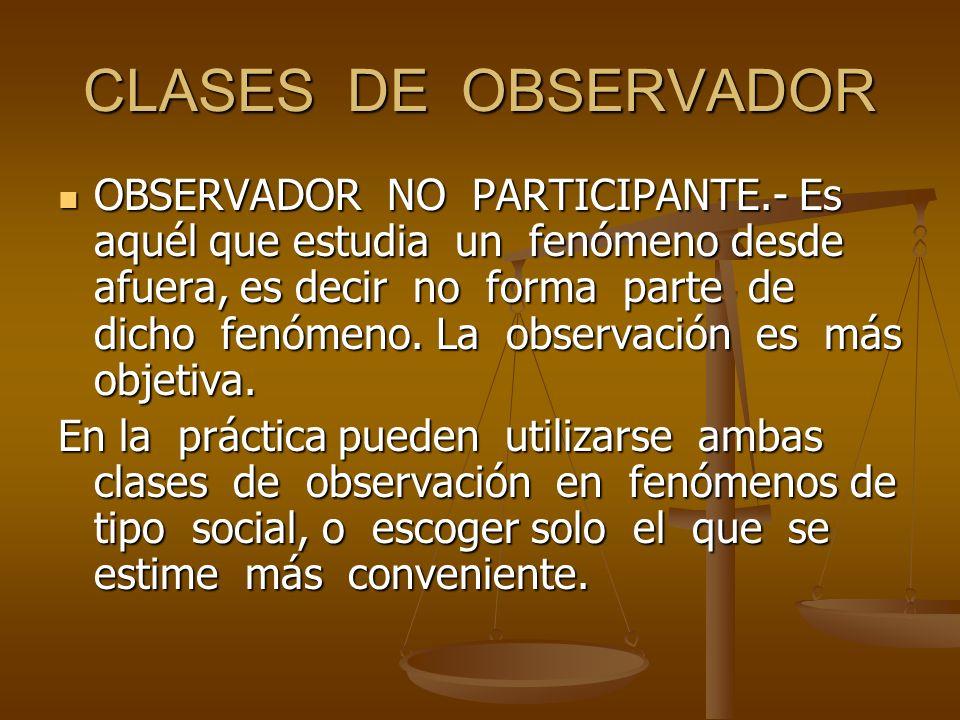 CLASES DE OBSERVADOR