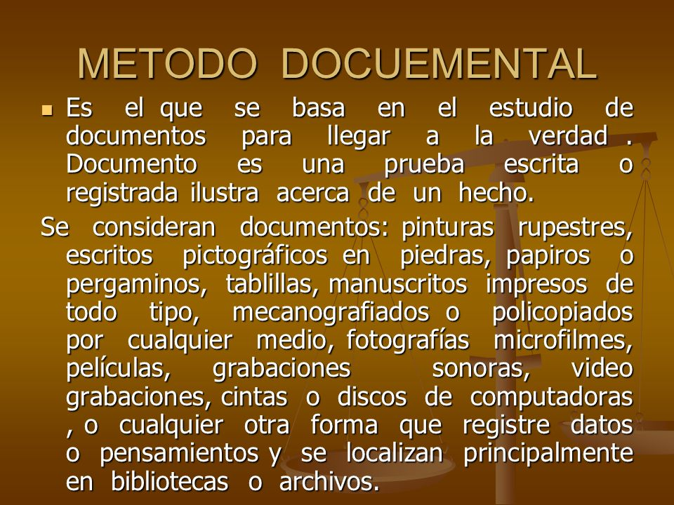 METODO DOCUEMENTAL