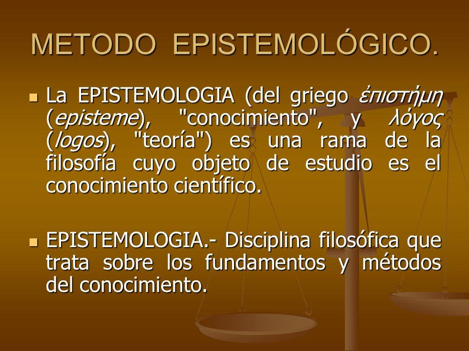 METODO EPISTEMOLÓGICO.