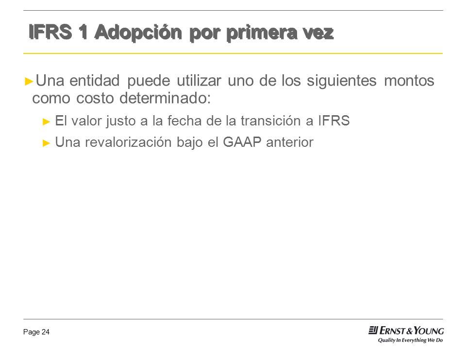 IFRS 1 Adopción por primera vez