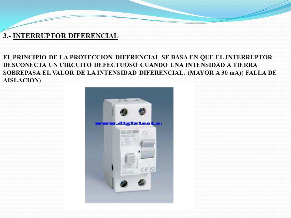 3.- INTERRUPTOR DIFERENCIAL